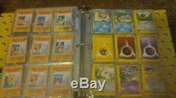 Pokemon card lot binder with rare holo full art ex 1st ed base error pikachu hot
