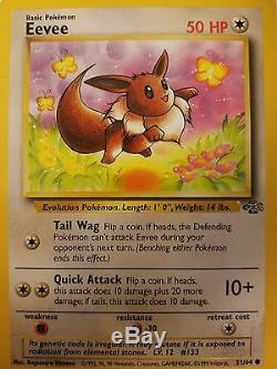 Pokemon card rare collections original 1990 new condition eevee & 3 holo
