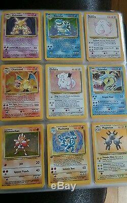 Pokemon cards Base set RARE HOLO (Blastoise, Alakazam, Charizard, Venusaur etc)
