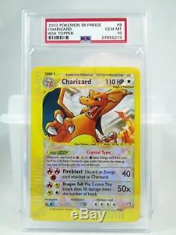 Psa 10 Gem Mint Skyridge Crystal Charizard Pokemon Box Topper Jumbo Card Rare