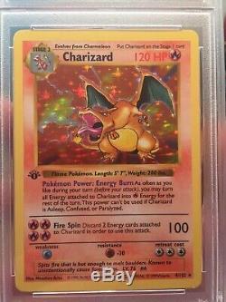 Psa 8 Charizard 1st Edition #4 Shadowless Holo Pokemon Card