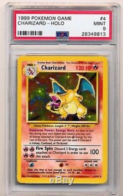 Psa 9 Charizard 4/102 Base Set Mint Pokemon Card Holo Rare