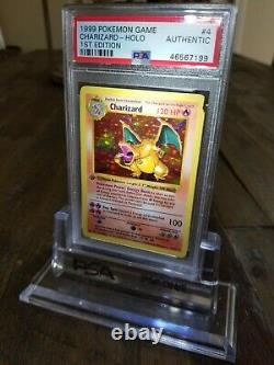 Psa-authentic- 1st Edition Base Set Shadowless Charizard Pokemon Card 4/102