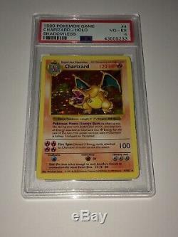 Rare Holo Shadowless Charizard Pokemon Card PSA Holofoil Base Set 4/102