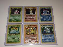 Rare Pokemon Cards Charizard Venusaur Blastoise Typhlosion Feraligatr Meganium