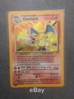 Rare Shiny Charizard Pokemon Card holo base set excellent condition