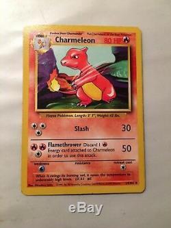 Rare Stage 1 Pokemon Charmeleon Card 24/102, 1995