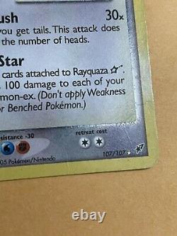 Rayquaza Gold Star HP 107/107 Pokemon TCG Vintage Card! Ex Deoxys Holo Rare