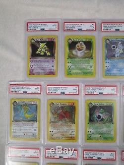 Rocket 1st Edition COMPLETE Lot 18 PSA 9 MINT Holo Rare Pokemon Cards Charizard