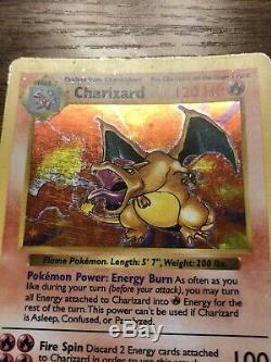 SHADOWLESS CHARIZARD 4/102 Holo Foil Rare Base Set Pokemon Card 1999