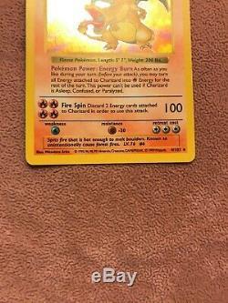 Shadowless CHARIZARD Pokemon Card Base Set #4/102 HOLO FOIL RARE LP