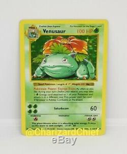 Shadowless Venusaur Holo Rare Pokemon Card Base Set Original Collection 15/102