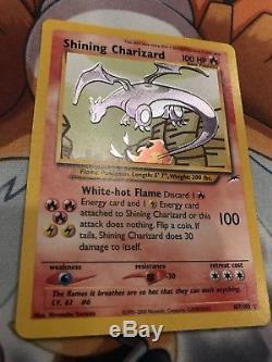 Shining Charizard 107/105 Neo Destiny Holo Ultra Rare Pokemon Card NM/M