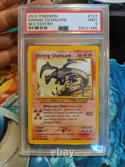 Shining Charizard Neo Destiny Triple Star RARE PSA 9 POKEMON CARD HOLO UNLIMITED