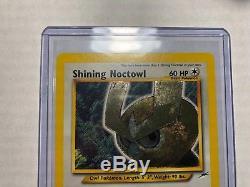 Shining Noctowl Pokémon Card Neo Destiny Holo Foil #110/105 SECRET Rare MINT