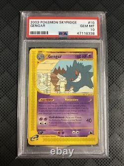 Skyridge PSA 10 Gem Mint Gengar Non-Holo Rare 2003 Pokemon Card #10/144