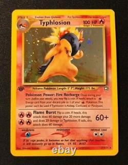 Typhlosion 1st Edition Holo Rare Neo Genesis 17/111 Pokemon Card WOTC