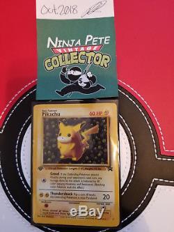 ULTRA RARE! 1st Edition Black Star Promo Ivy Pikachu Jungle Series Error Card