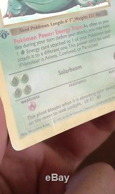 VENUSAUR Shadowless First Edition BASE SET Ultra Rare Pokemon Trading Card