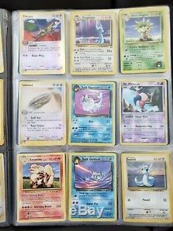 VINTAGE/RAREWOTC Pokemon Card Binder Lot! Neo, E-series, Rocket, Lv X, Base