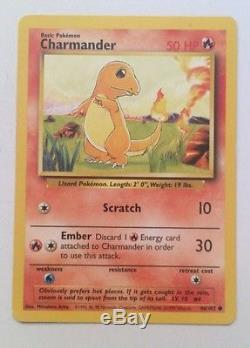 Very Rare Charmander 46/102 Original Pokemon Card