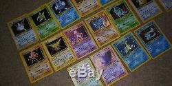 Vintage pokemon lot 400ish cards 40+ rares base set to gym sets. 17 holographics
