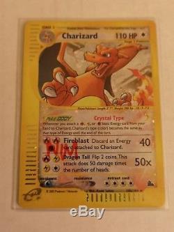 X1 Pokemon Crystal CHARIZARD Card 146/144 Secret Rare Holo Foil 2003 Skyridge NM