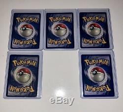 X5 LOT Pokemon SHADOWLESS BASE SET Cards HOLOGRAPHIC BLASTOISE RED CHEEKS