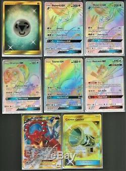 (18) Carte Secrète Rare Pokemon Lot Arc-en-raichu / Gyarados / Juge Whistle +++