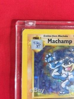 1995 1ère Édition Rare Holo Feuille Machamp Carte Pokemon Mint Condition