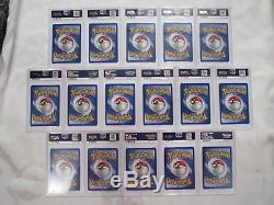 1999-2000 Uk Base Set 4ème Lot Complet De 16 Psa 9 Mint Holo Rare Pokemon Cards