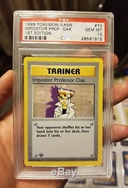 1999 Ensemble De Base Shadowless Pokemon 1st Edition Dratini Lot 7 Psa 10 Cartes
