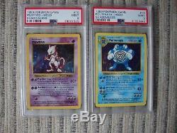 1999 Jeu Pokemon Shadowless Mewtwo Holo Carte Holographique # 10 Psa 9 Neuf.
