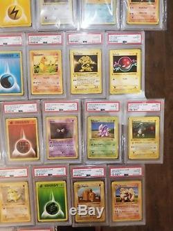1999 Pokemon 1st Edition Jeu De Base Shadowless Psa 10 37 Lot De Cartes