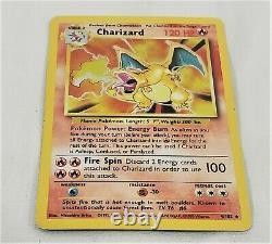 1999 Pokemon Base Set Unlimited Charizard Trading Card 4/102 Holo Rare