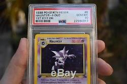 1999 Pokemon Card 1ère Édition Haunter Holo Psa 10 Fossil Set