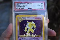 1999 Pokemon Card 1ère Édition Hypno Holo Psa 10 Fossil Set