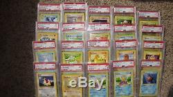 1999 Pokemon Jeu Shadowless Lot De 40 Cartes Tous Classés Psa 9 Menthe