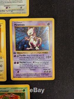 1999 Set De Base Pokemon 1ère Édition Lot De 10 Cartes Rares Holo Excellent / Lp Fun