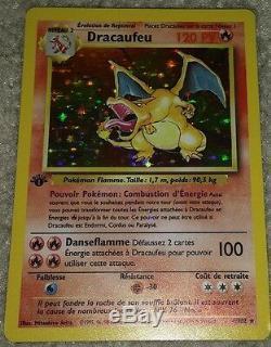 1er Ed Édition Français Charizard Dracaufeu 4/102 Holo Ultra Rare Carte Pokemon