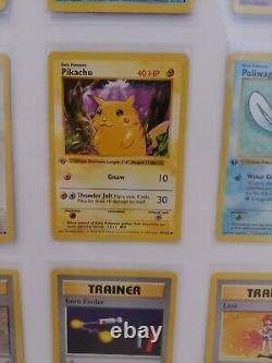 1ère Édition Complète De Base Cartes Pokemon Psa 8