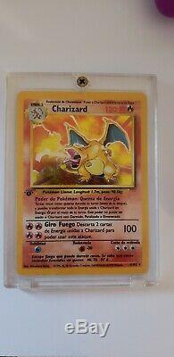 1ère Édition Rare Charizard De Base Holo Carte Pokémon (en Espagnol / Español)
