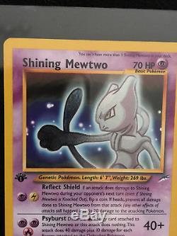1ère Édition Shining Mewtwo Carte Pokémon Rare Secret 109/105