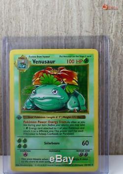 1ère Édition Venusaur Holo Rare Carte Pokemon Wotc 15/102 Base À Chargement Par Le Haut Gd / Ply
