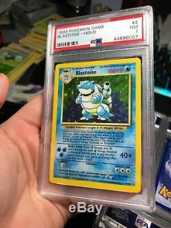 1x Psa 7 Nm Blastoise Holo Rare Foil Wotc De Base 2/102 Graded Tcg Carte Pokémon