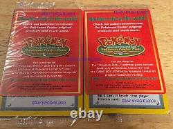 2 Cartes Mint Rare Scellé # 40 Pokemon Center # 41 Chanceux Stade Black Star Promo