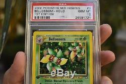 2000 Carte Pokémon 1ère Édition Neo Genèse Bellossom Holo Psa 10