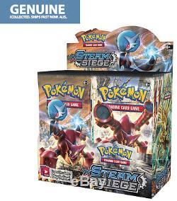 36 Booster Pack Xy11 Cartes De Pokemon À Siège De Vapeur Boîte À Boire Authentique Anglaise