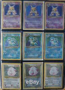 3x Complete Originale Carte Pokemon Base Set! Rare 1er Ed, Shadowless Et Illimité