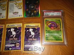 43 Jeu De Base Graded Pokemon Cartes 9 & 10 Psa & Gma La Plupart Sont 1ère Édition 9 & 10